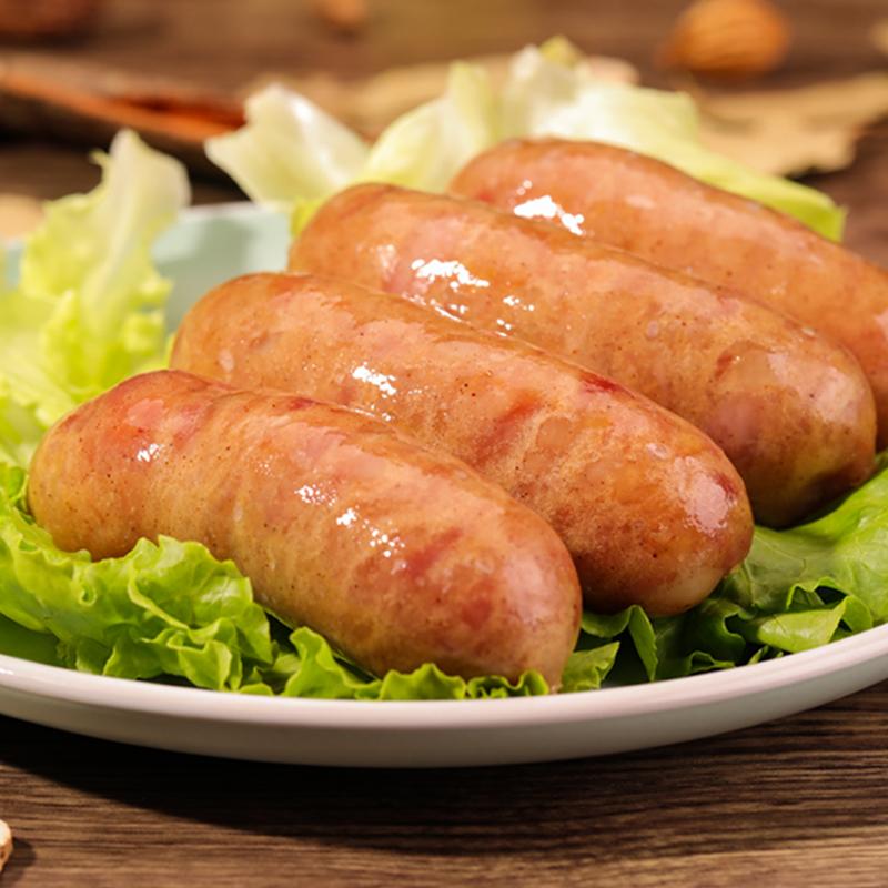 纯肉肠原味火山石烤肠黑椒地道肠台式台湾风味家庭热狗肠烧烤香肠