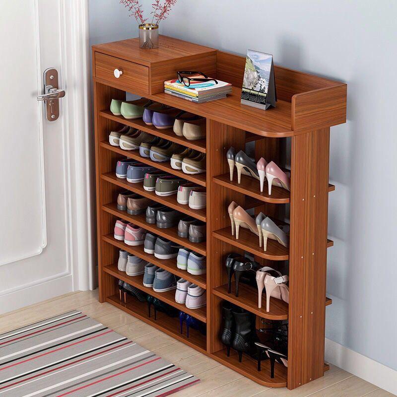 速都多层鞋架简易储物架收纳鞋柜创意鞋架玄关门口仿实木鞋架子