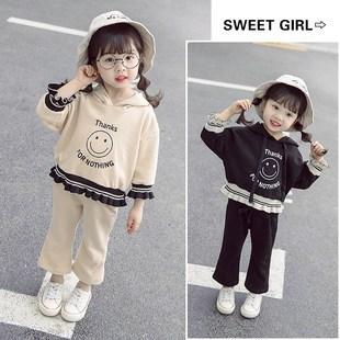 女寶寶秋裝女童秋季運動套裝洋氣小童一歲半女寶時髦春秋休閒衞衣