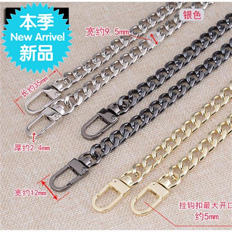 Girls three sex shoulder bag summer single chain thin chain extended new chain belt chain flat chain jewelry metal bag chain