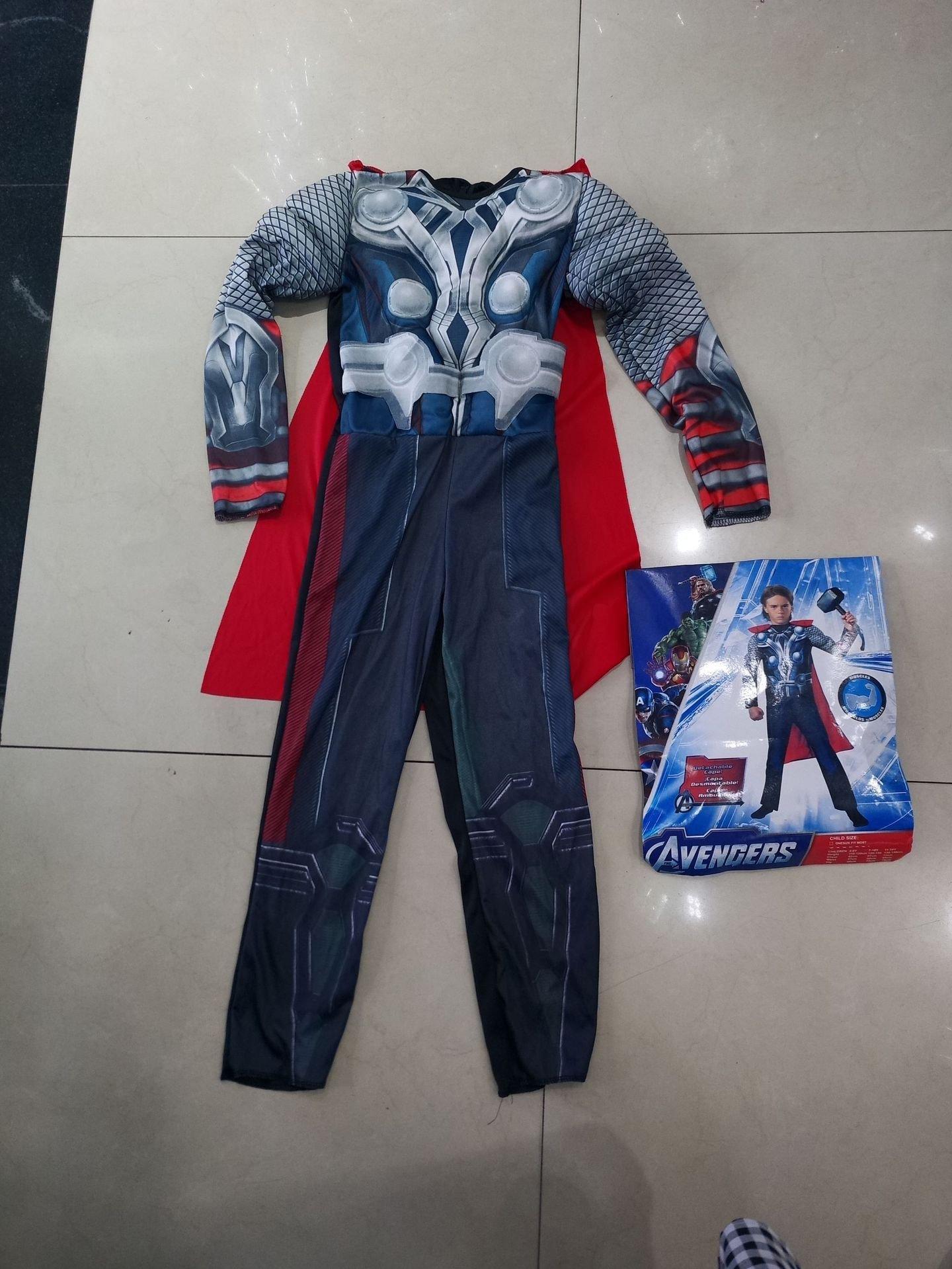 万圣节儿童服装联盟肌肉款雷神 托尔cosplay动漫表演服带披风