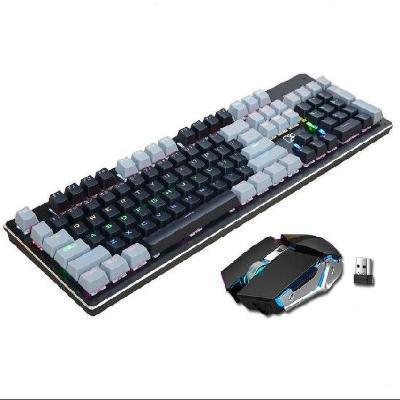 个性键帽按键键盘鼠标套装无线家用易清洁金属免驱动接口舒适网吧