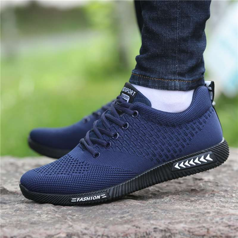 Mens shoes summer 2021 new fashion shoes mens breathable deodorant mesh leisure sports shoes Korean board shoes low top net