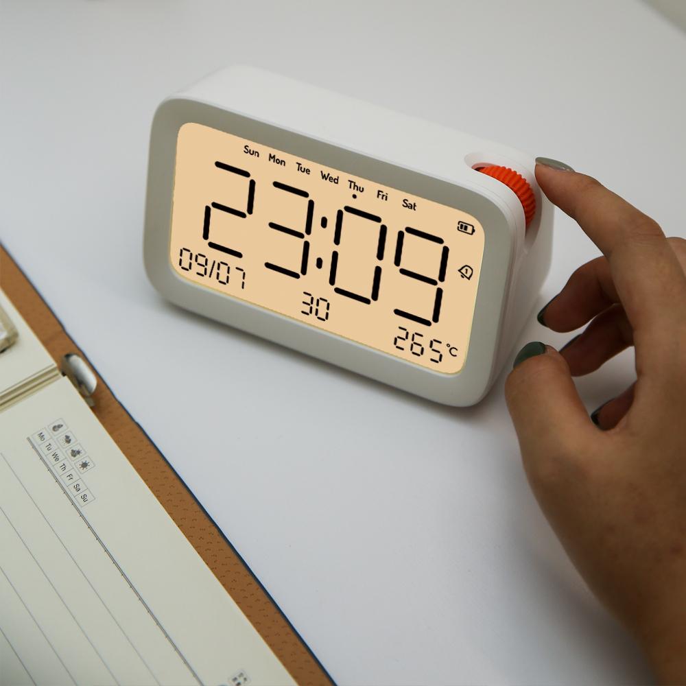闹钟静音学生用床头电子夜光声音超大音量自定义闹铃儿童专用计时
