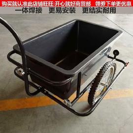 。承重強寵物小拖車自行車自行車后掛拖車可坐人輕便旅游載物拉?圖片