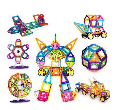 。小孩玩具积木散片宝宝早教玩家男孩女孩磁实惠力片补充4d拼图益
