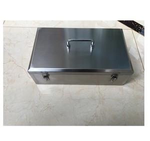 304不锈钢工具箱手提式加厚型;多用途结实防水收纳存钱箱定做