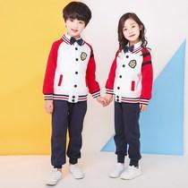 幼儿园园服定制春秋装棒球服小学生校服套装儿童运动服班服三件套