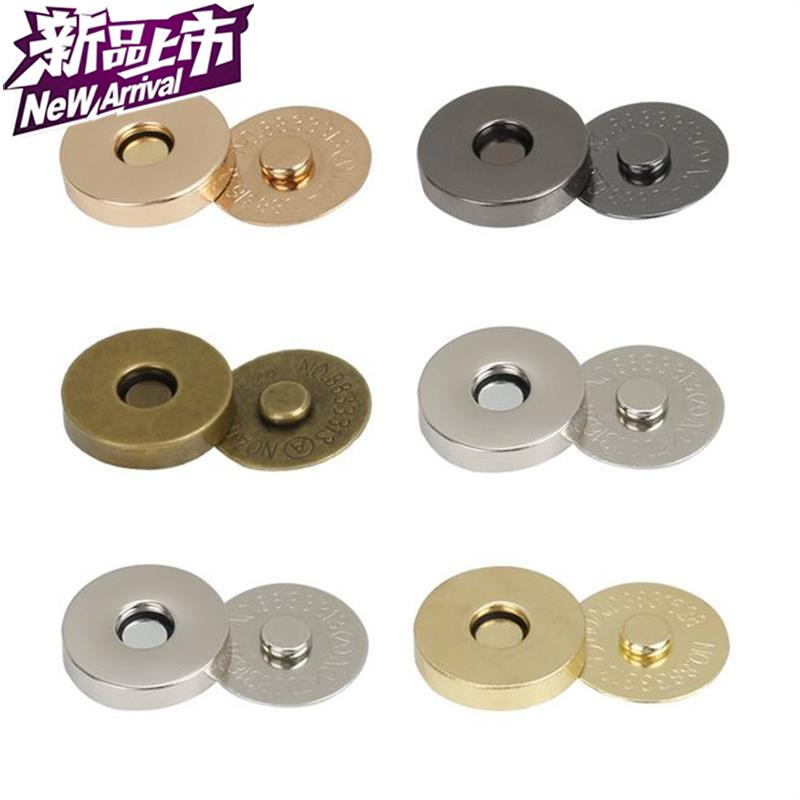 Purse suction cup accessories bag buckle 9 button metal magnetic buckle magnet buckle bag button lock