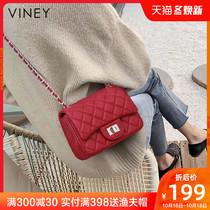 小ck女包包2020新款潮真皮链条包百搭斜挎包女网红单肩包夏季小包