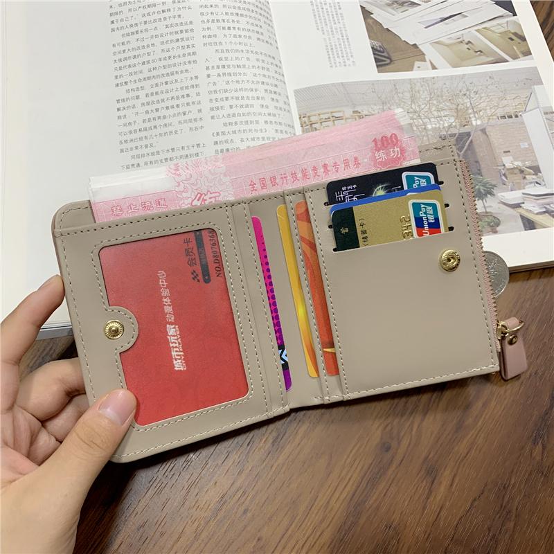 。小钱包女短款2021新款韩版可爱学生折叠钱夹多功能超薄卡包零钱