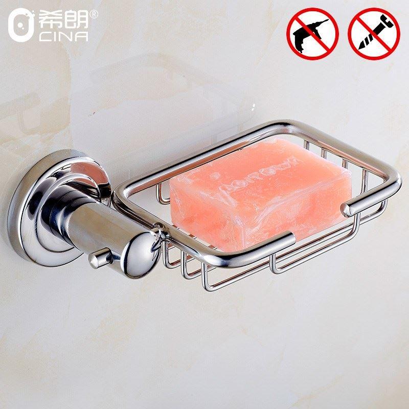 免打孔 304不锈钢肥皂架 香皂浴室架皂网肥皂网 肥皂盒置物架