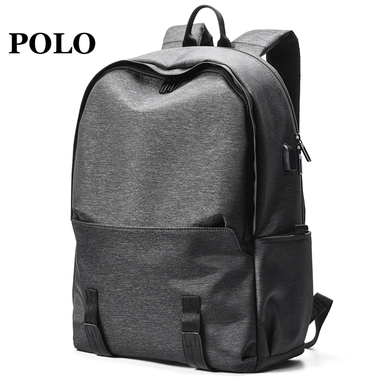Polo Shoulder Bag Men's Fashion Leisure Men's Bag Large Capacity Outdoor Portable Computer Travel Bag Simple Men's Backpack