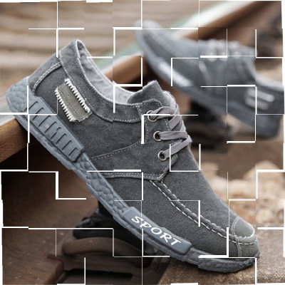 2019 canvas shoes light shoes soft soled work shoes mens shoes one foot casual shoes mens Korean sports shoes cloth shoes