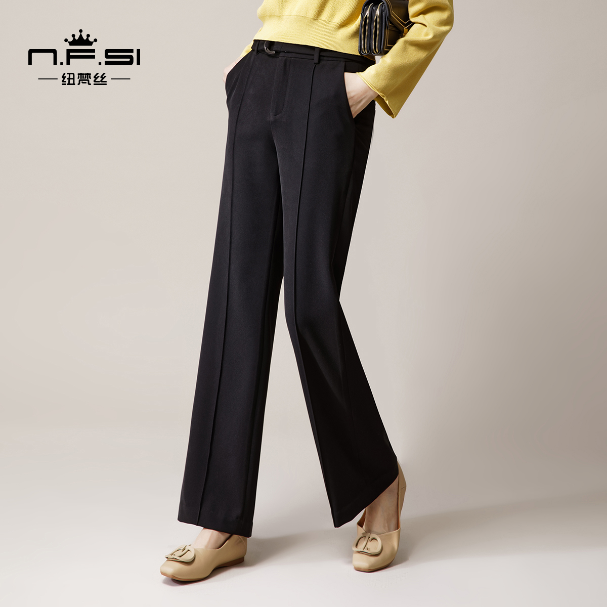 Newvence straight pants womens 2020 new autumn and winter commuter suit
