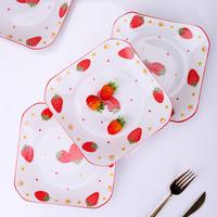 双耳创意个性网红可爱陶瓷日式盘子