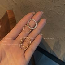 贝珠食指戒指女套装组合冷淡风小众设计感简约个姓潮人高级感指环
