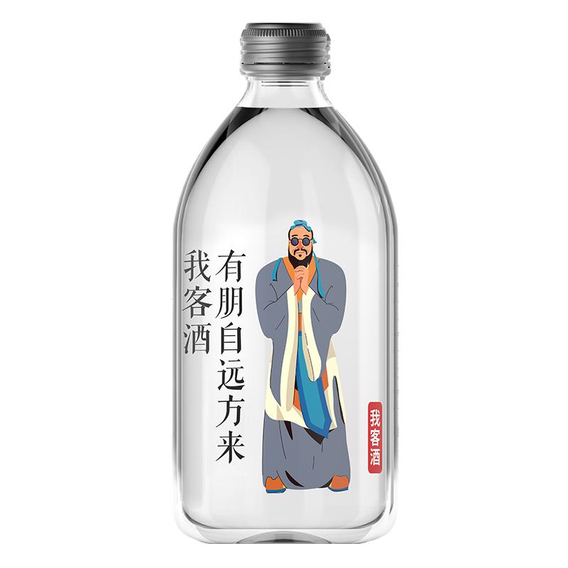 金六福我客酒42°浓香型白酒单瓶490ml纯粮食酒试饮整箱