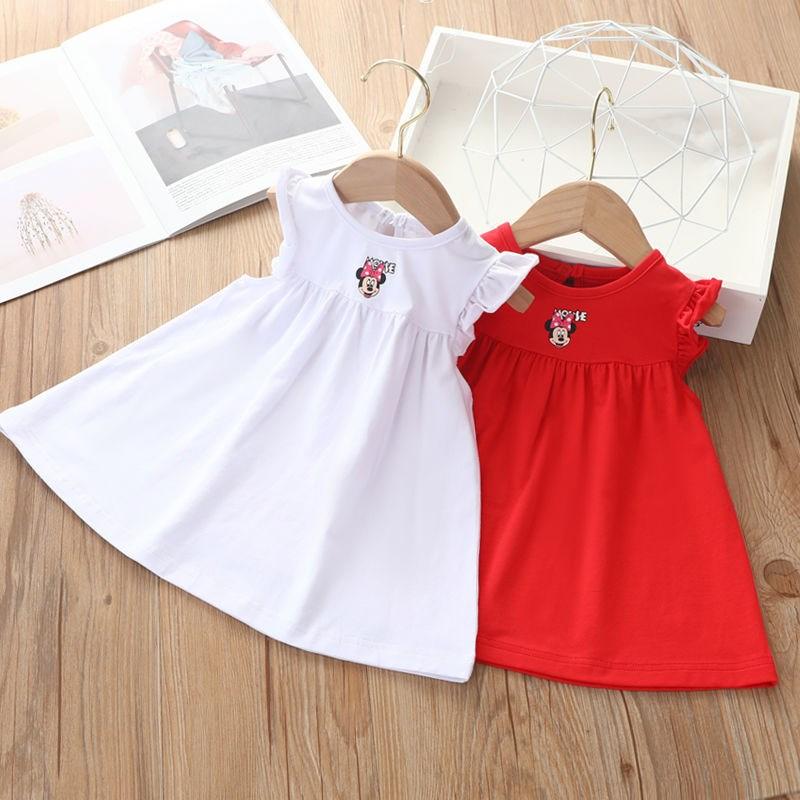 女童宝宝连衣裙夏季2021新款儿童裙子夏天无袖婴儿小童a字连身裙