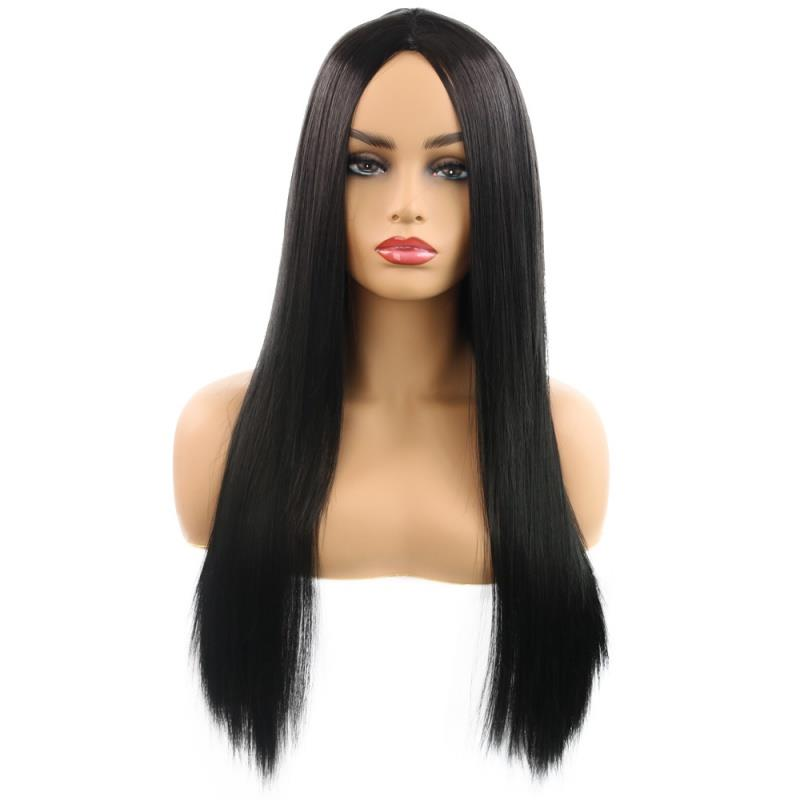 Quick sell wig role play popular wig womens fashion face repair medium length straight hair hot seller