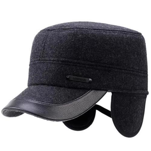 Handsome soft hat mens loose tongue I hat running leisure travel wool f I hat atmosphere soft autumn and winter wide Duck short eaves
