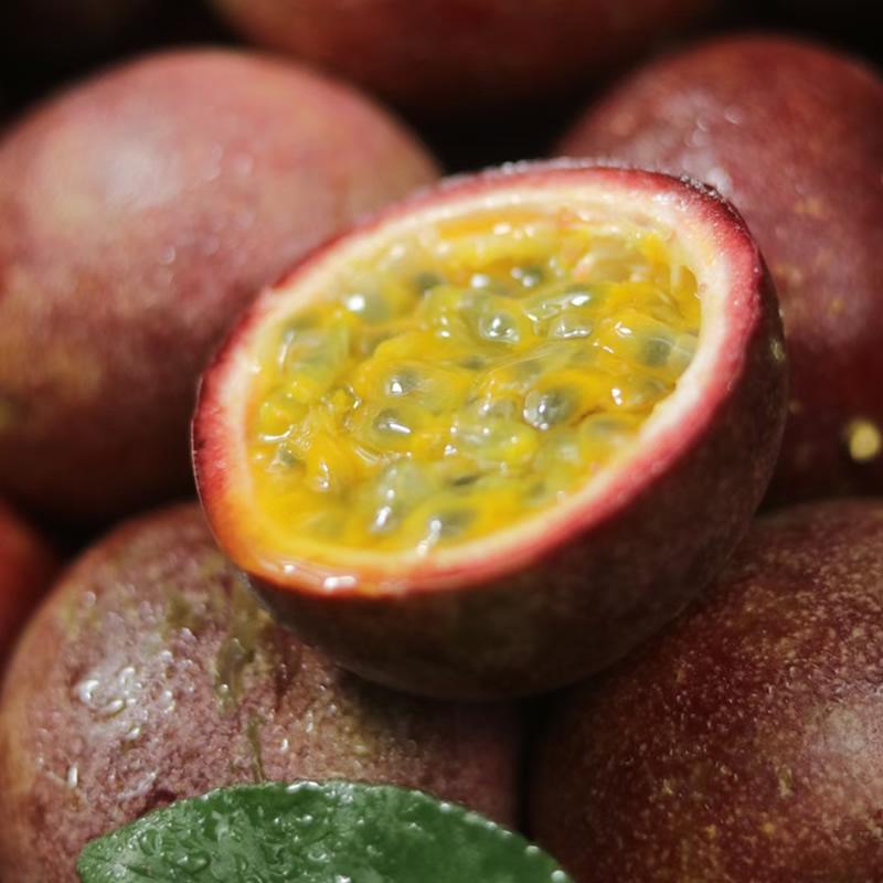 云南新鲜百香果包邮5斤大果紫色番莲浓原浆果酱当季整箱产地直发