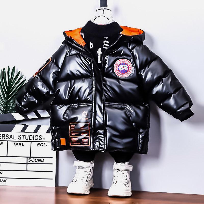 男童棉服2020新款儿童加绒棉衣宝宝冬装中长款外套小男孩洋气棉袄