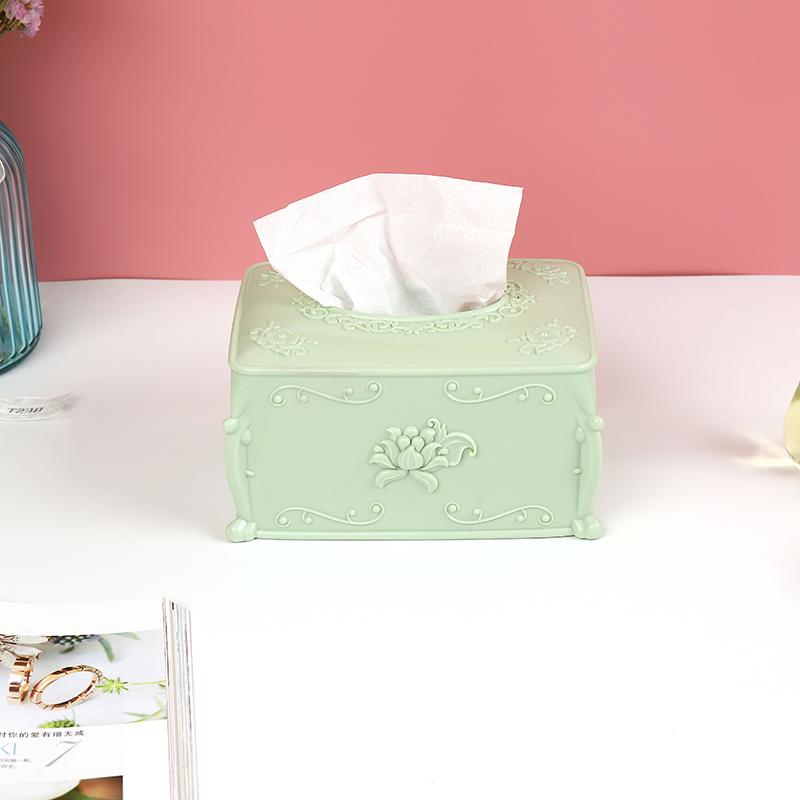 中國代購|中國批發-ibuy99|收纳盒|【北欧风尚】雕花塑料纸巾盒创意客厅抽纸盒餐巾纸盒纸巾收纳盒