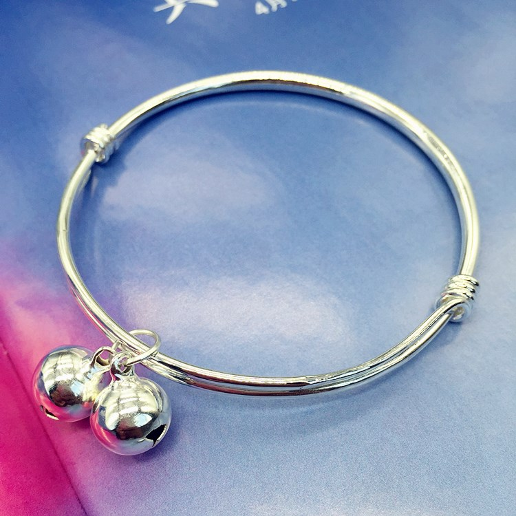 Anklet girl ring Han lingdang silver baishengguang smooth simple Anklet new product temperament fashion version