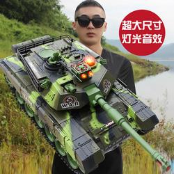 超大遥控坦克履带式亲子对战可发射儿童坦克金属模型男孩玩具汽车