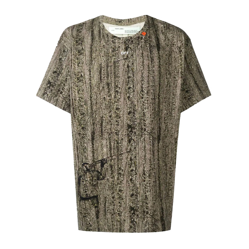 Off white new mens camouflage arrow short sleeve Pullover mens T-shirt