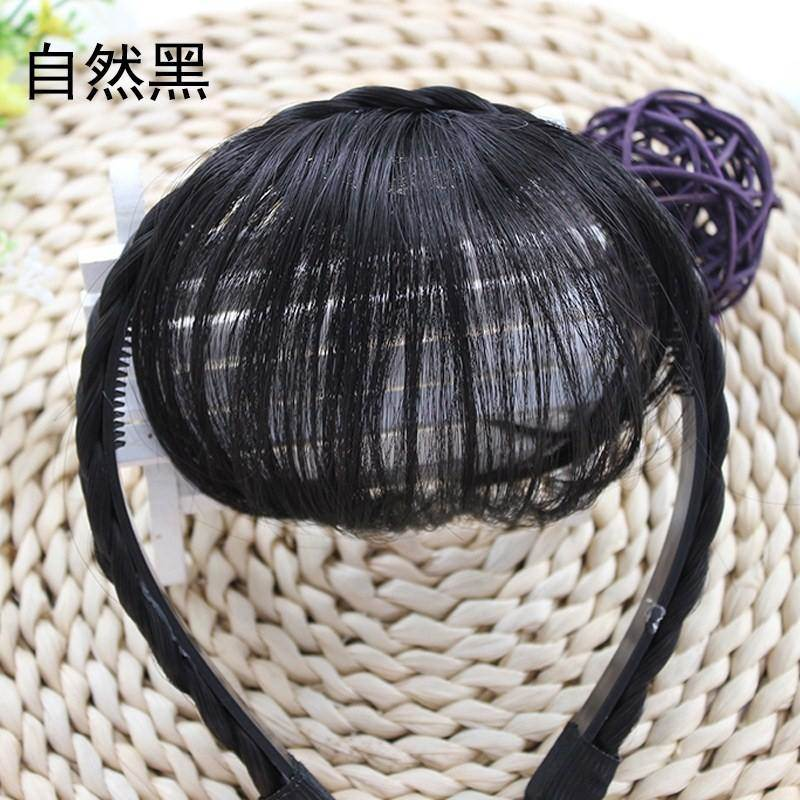 Head fake bangs with natural hair hoop hair accessories Mini partial Chinese hairpin wig with braided flowing sea accessories