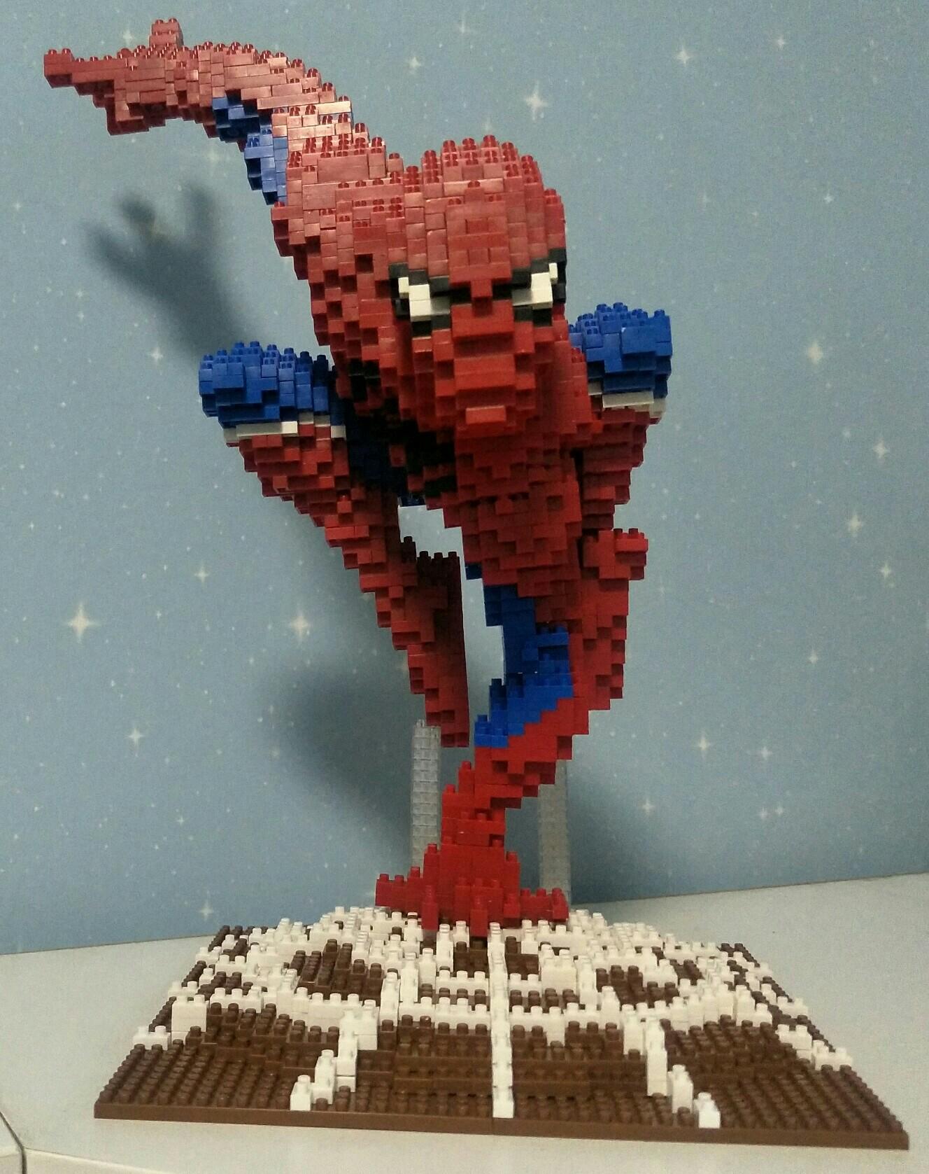 蜘蛛侠楽高兼容小颗粒积木拼装玩具高难度成年人儿童礼物