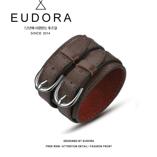 Fashion personality trendsetter mens PU rock wide Bracelet Korean version Harajuku punk lovers bracelet ring accessories