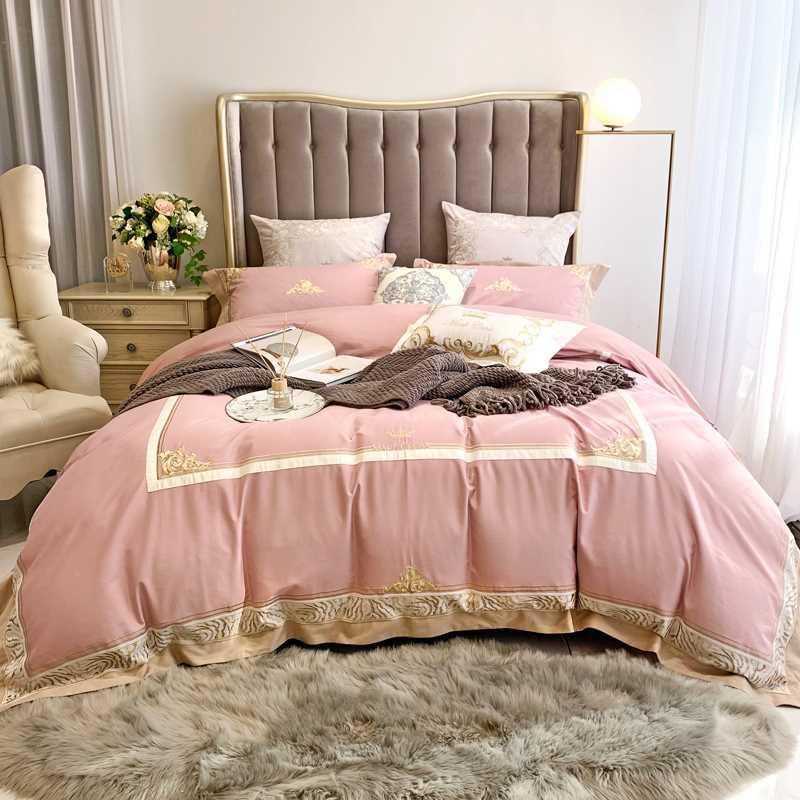 秋冬床品套件120支全棉加厚纯棉冬季磨毛四件套结婚刺绣床上用品