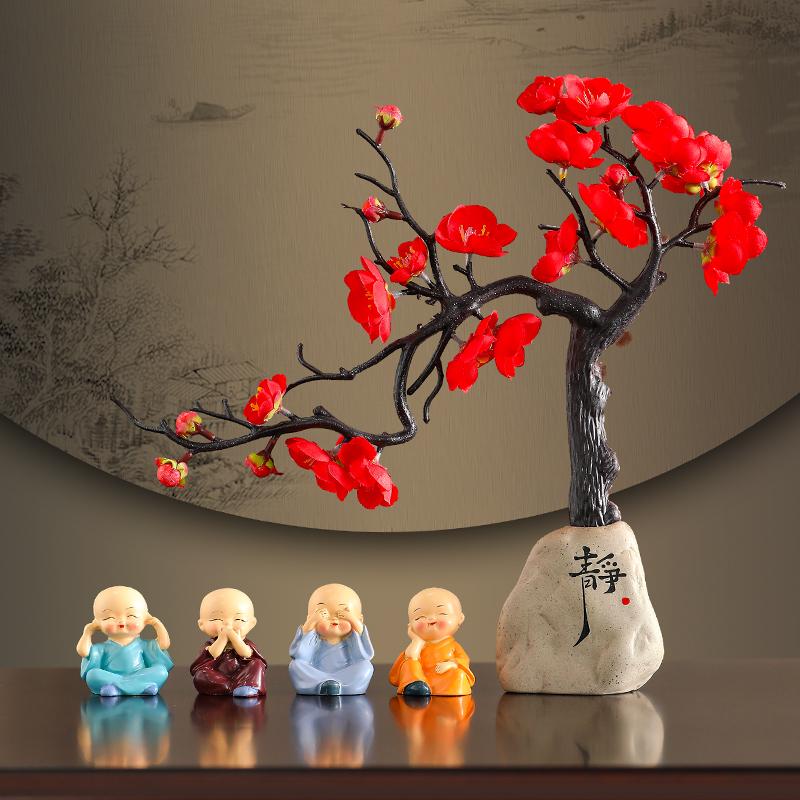 中國代購|中國批發-ibuy99|工艺品|中式古典禅意小和尚摆件家居客厅装饰工艺品书房玄关办公室摆设品