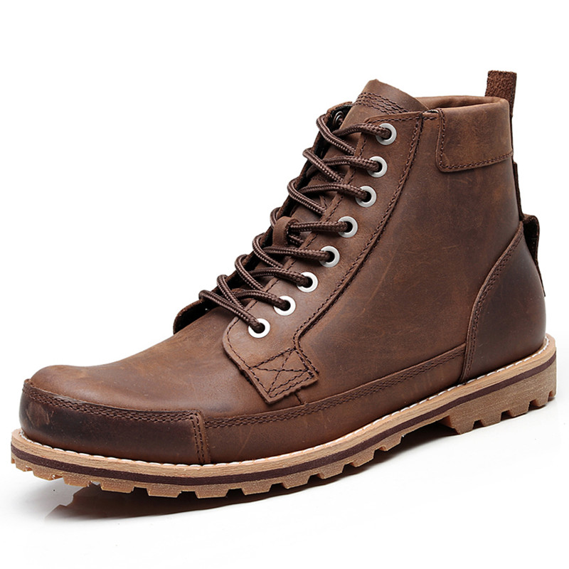 Soochow Mai Le Work Boots Mens boots leather Martin boots 15551 winter Xiaobei high top anti-skid 15550 locomotive boots