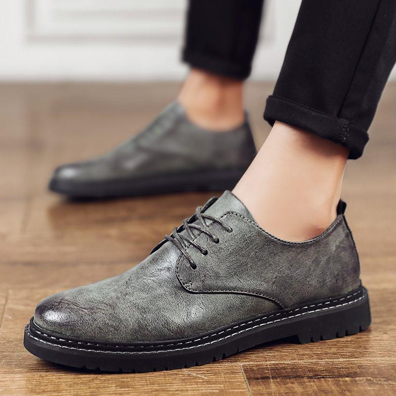 New winter Augustus business dress single shoes mens leather shoes fashion office mens shoes low top casual shoes