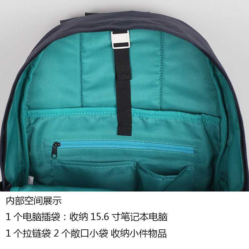 。 Japanese simple leisure laptop double w shoulder bag mens and womens large capacity Backpack Travel College Student schoolbag