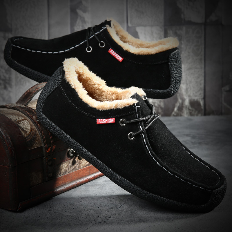 Korean autumn anti suede casual suede low top frosted leather popular mens shoes mens sailing shoes mens snail