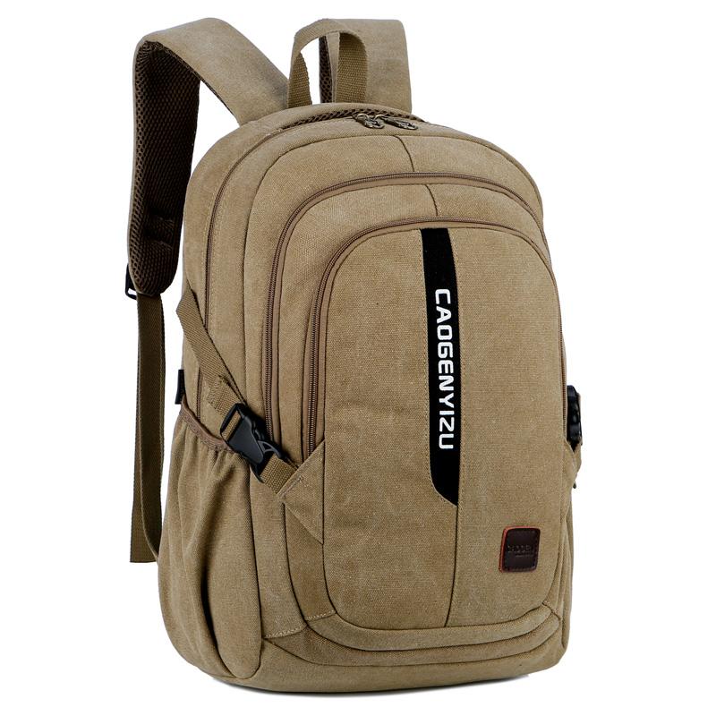。背包男双肩包男式帆布包大容量旅行电脑包时尚潮流休闲大学生书