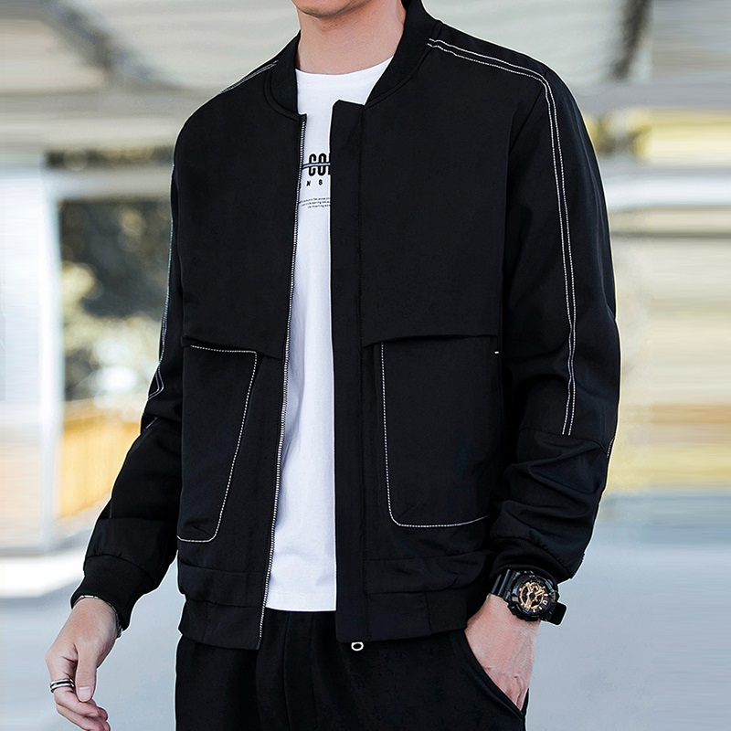 2021 casual jacket mens spring and autumn Korean fashion slim sports leisure handsome coat youth mens top