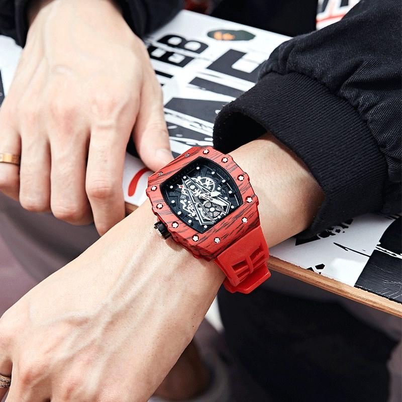 理查德机械造型男士手表运动x十大品牌学生潮流米勒红魔黑科技氚