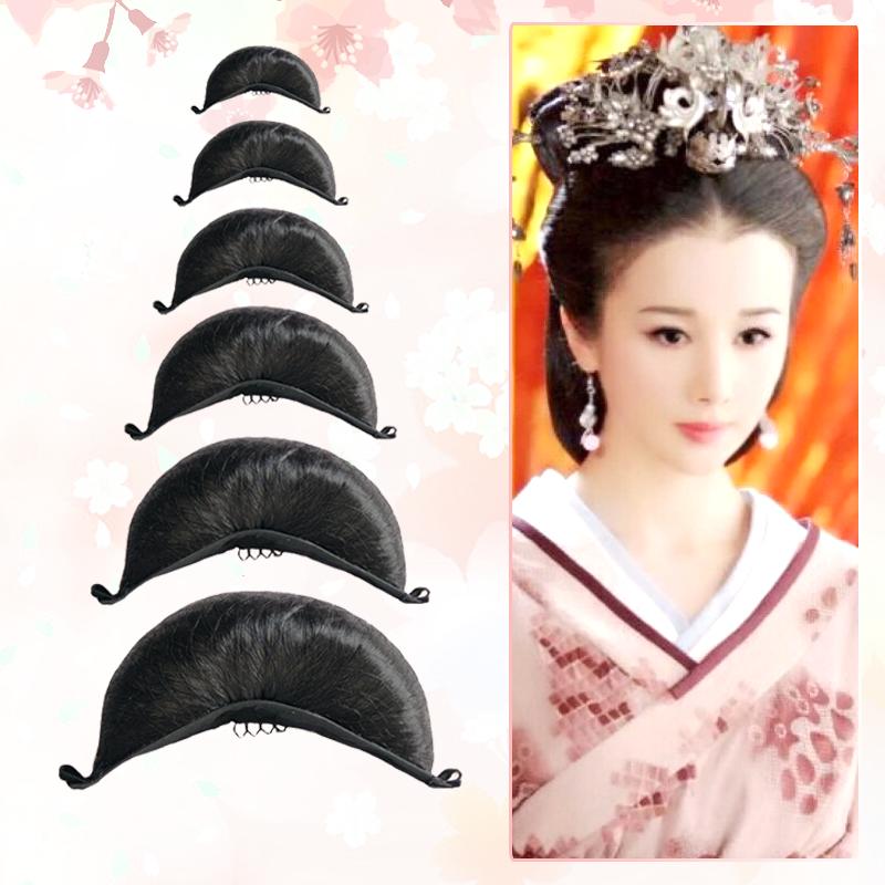Huaqianshu ancient costume wig smooth face crescent moon Bag Princess hair bun cos ancient style Xiaolongnv Hanfu Niujiao mat