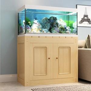 广东广州鱼缸底柜木制鱼缸底座架子家用小型多层组合简易实木鱼缸