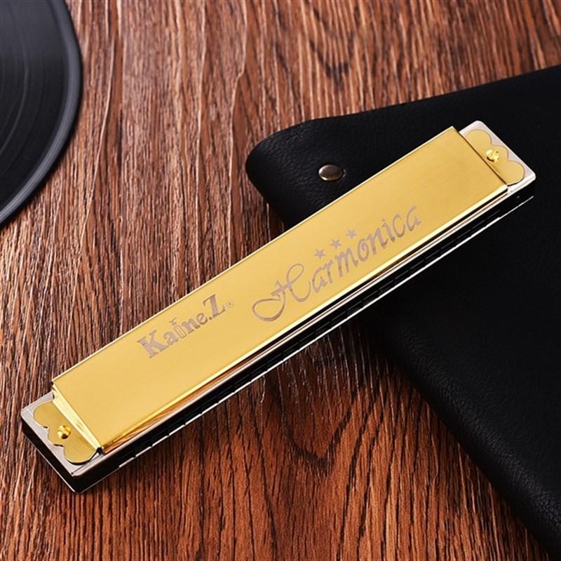 .上海老品牌凯恩口琴24孔复音c调重音abdefg调加厚款初学者入门.