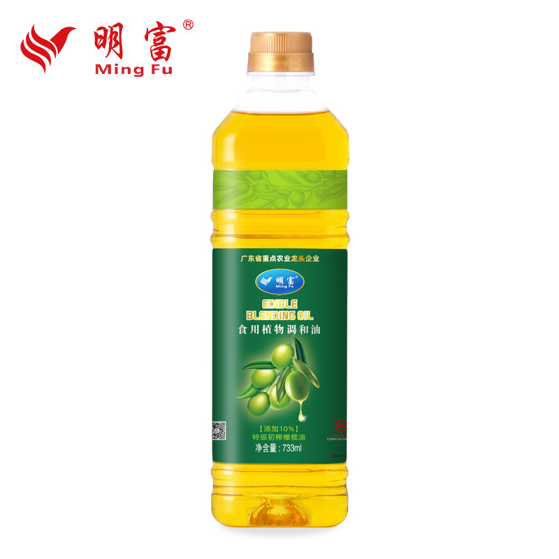 Mingfu 10% imported extra virgin olive blend oil 733ml household non genetically modified edible vegetable oil
