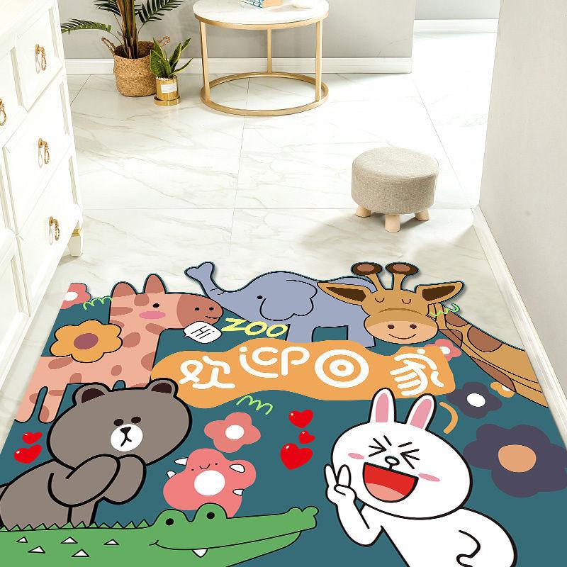 入户门垫卡通地垫门口玄关丝圈脚垫可剪裁地毯进门网红家用定制
