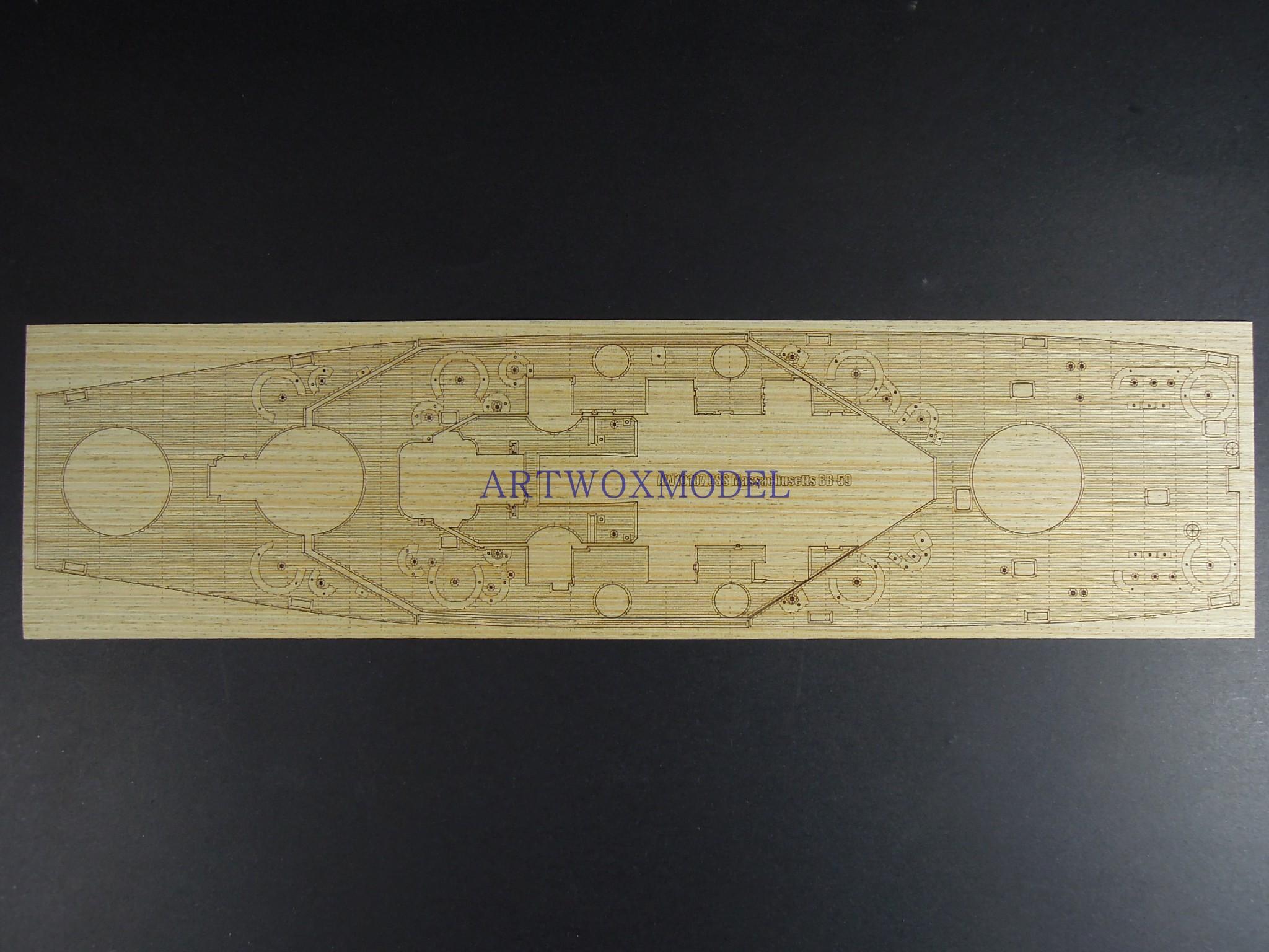 AW10107 1/350 美马萨诸塞号战舰BB-59甲板 配小号手05306