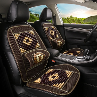 New summer wooden bead car seat cushion single piece ventilated seat cushion set GM drivers and passengers seat cover